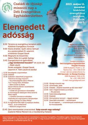 Egyházkerületi missziói és ifjúsági nap plakátja